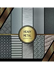 Scrapbook Paper: Heavy Metal: Double Sided Craft Paper For Card Making, Origami & DIY Projects | Decorative Scrapbooking Paper Pad