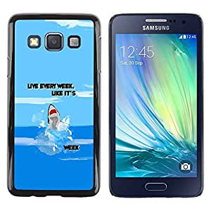Paccase / SLIM PC / Aliminium Casa Carcasa Funda Case Cover para - Week Ocean Funny Cartoon Blue - Samsung Galaxy A3 SM-A300