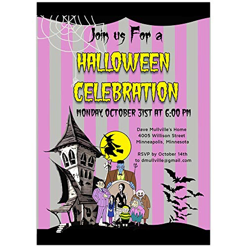 Family Adam Halloween Party Invitations]()