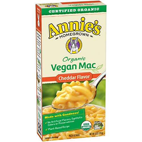 Annie's Organic Cheddar Vegan Mac Box, 6 Ounce (Pack of 12) (Best Vegan Macaroni And Cheese)