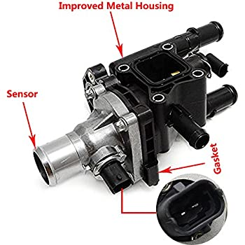 amazon com thermostat housing assembly 1 8l for gm chevy sonic trax  thermastat location 2011 chevy aveo engine diagram