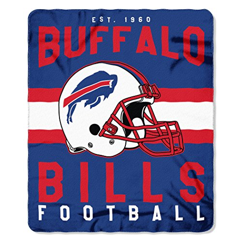 Nfl Buffalo Bills Singular 50 Inch By 60 Inch Printed Fleece Throw