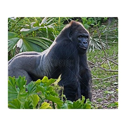 Grinning Gorilla Fleece Throw Blanket