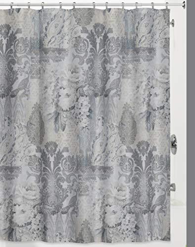 Creative Bath Products Heirloom Shower Curtain, Grey