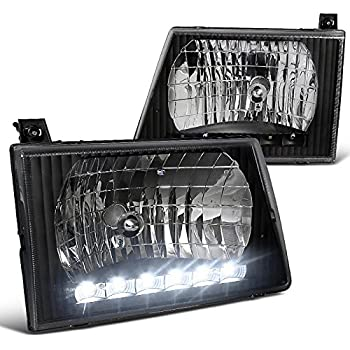 Spec-D Tuning LH-ECON92JM-RS Ford E150/E250/E350/E450/E550 Econoline Van Black Crystal Headlights