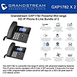 Grandstream GXP1782 Bundle of 2 Powerful Mid-range HD IP Phone 8-Line, 4SIP accounts