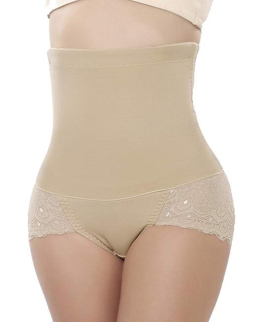 5fc31723023 ZAIQUN Women s High-Waist Tummy Control Knickers Sexy Lace Seamless Butt  Lifter Underwear Slimming Shapewear  Amazon.co.uk  Clothing