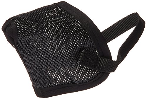 Pro Guard Mesh Dog Muzzle for Short Nose - Flat Faced Dogs, (Pug Muzzle) one Size Fits All ()