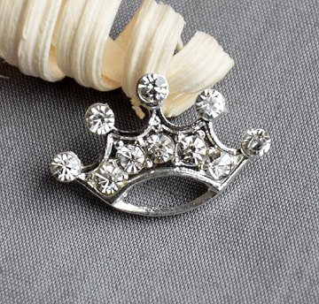 Ship Free Pin Brooch (10 Rhinestone Button Brooch Embellishment Crystal TIARA CROWN Wedding Brooch Bouquet Invitation Cake Hair Comb Pin Clip BT545)