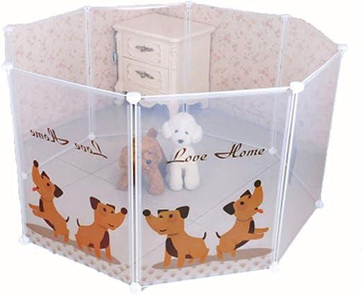 LYKH Valla para Mascotas de Bricolaje 8 combinación de Jaula para Perros Plegable de plástico Transparente Cerca de Perro de Barra de Shan-Bone: Amazon.es: Productos para mascotas