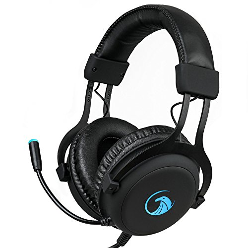 NPET S018 Pro 7.1 Chroma Gaming Headphone with Sound and USB Gaming Headset Noise Cancelling Over Ear Headphones with 360¡ã Retractable Digital Hi-Fi Microphone and Chroma Lighting