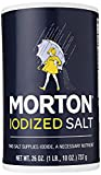 #8: MORTON Iodized Salt, Supplies Iodide, Table Salt, Great for Baking, Cooking and Arts & Crafts, Pantry Essential, 26 Ounce