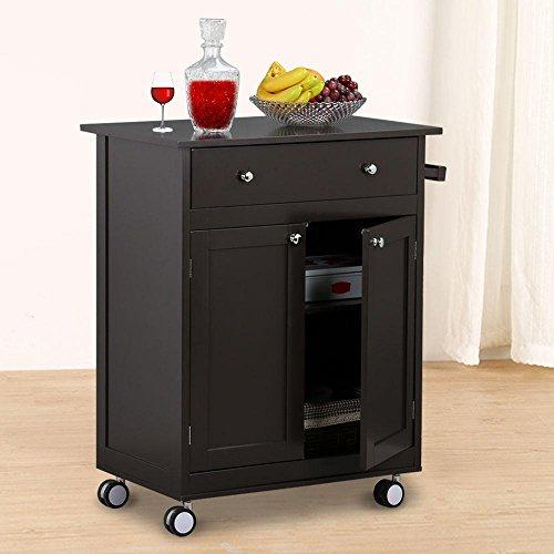 Go2buy Wood Single Drawer Kitchen Cabinet Storage, Coffee by go2buy