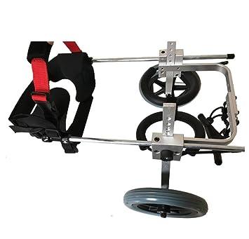 Sillas de ruedas para mascotas de dos ruedas, ajuste multidireccional de scooter para perros,