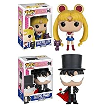 Funko POP! Sailor Moon w/ Luna & Tuxedo Mask - Anime Manga Vinyl Figure Set NEW