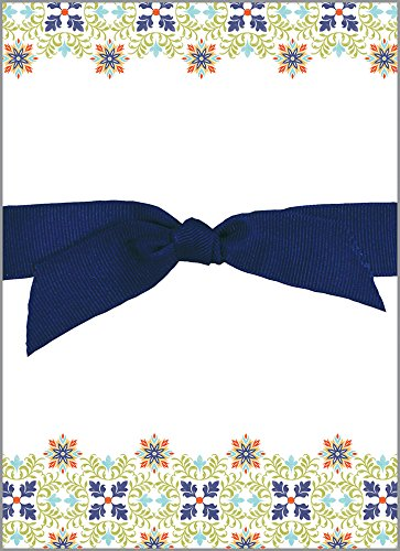 Cassablanca Pattern Chunky Thick Bow Notepad, 150 sheets
