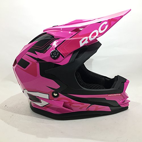 Amazon.es: 3GO XK188 ROCKY CASCO DE CHICAS NIÑAS MOTOCROSS OFF ROAD ATV QUAD ENDURO ROSA CON GAFAS NEGRO (M (49 - 50 CM))