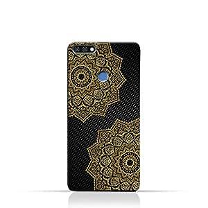AMC Design Vintage Mandala 1201 Printed Case for Huawei Honor 7C - Black & Yellow