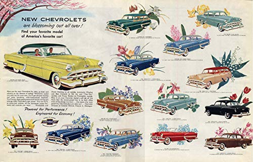 Blossoming out all over! Chevrolet full-line ad 1954 - Full Line Chevrolet