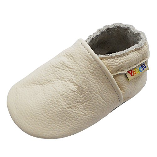 Infant White Leather Footwear - Yalion Baby Boys Girls Shoes Crawling Slipper Toddler Infant Soft Leather First Walking Moccs(White,18-24 Months)