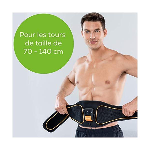 Beurer EM 37 Ceinture abdominale, Entraînement abdominal EMS, Electrostimulation musculaire pour renforcer les muscles…