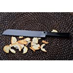 Fineline Settings Platter Pleasers Black Bread Knife 48 Pieces 4 Made from premium quality extra heavy duty recyclable plastic Ergonomic design makes for comfortable and stress-free servings Upscale disposable and reusable if required