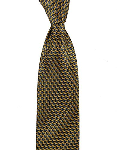 BRIONI dis n D040357 Yellow Blue Pelican Animal Print 3.25