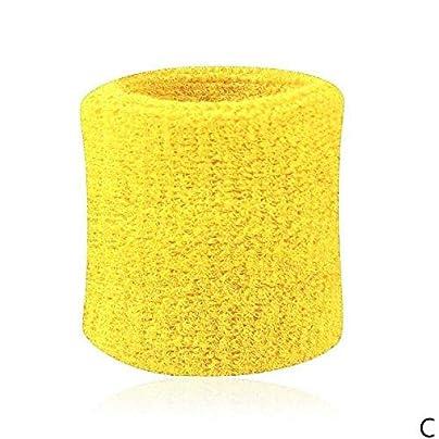 kokokwad Pcs Wristbands Sport Sweatband Hand Band Sweat Wrist Support Brace Wraps Guards Basketball Bandage Wrist Fitness Wristband Estimated Price £6.89 -