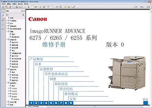 Manuals Service Copier - Printer Parts Copier Service Manual for Canon iR ADV 6275 6265 6255