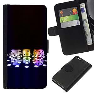 """Be-Star la tarjeta de CršŠdito Slots PU Funda de cuero Monedero caso cubierta de piel Para Apple iPhone 5C ( Nš²meros Dice Game Neon Disco Bling Poker"""" )"""