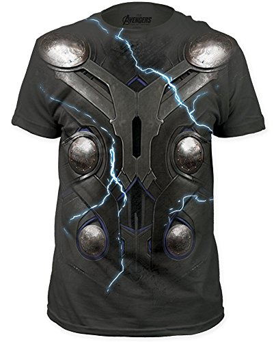 Avengers: Age of Ultron Thor Suit Costume T-Shirt Charcoal, Large ()