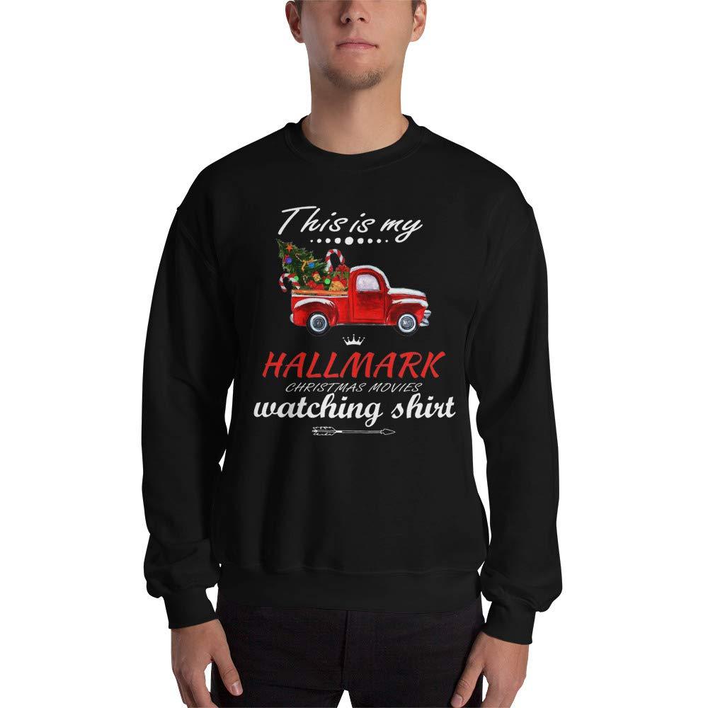 This is My Hallmark-Chirtmas Movie Watching Sweatshirt Watching Hallmark Movies Christmas Shirt