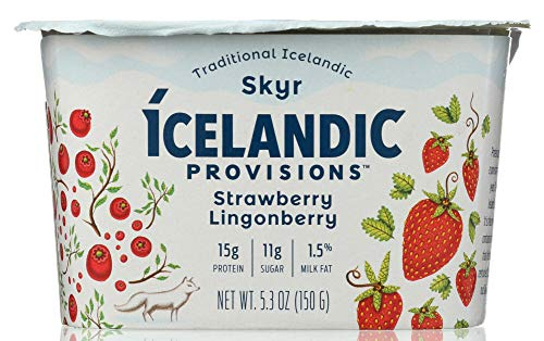 Price comparison product image Ícelandic Provisions (1 Item ONLY) Yogurt Strawberry Lingonberry Skyr