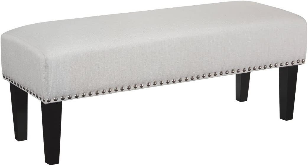 Signature Design by Ashley Beauland Accent Bench-Contemporary Chic-White