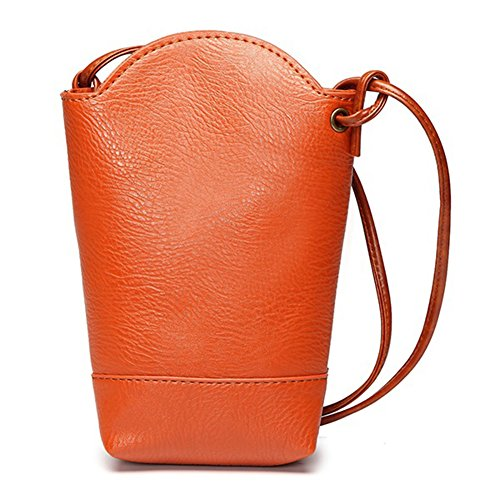 Body Army Phone Leather Purse Women's LBOJA Faux Bag Orange Cross Bucket Fashion Green Bag Mini Gift gwHYAq4YF