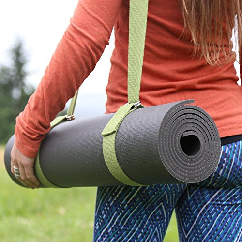 "Najae Yoga Strap Adjustable SGS Approved Extra Length 68"" (172cm) Durable Cotton Carrying Sling"