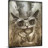 Jeff Haynie Premium Thick-Wrap Canvas Wall Art Print entitled Steampunk Cat 16''x20''