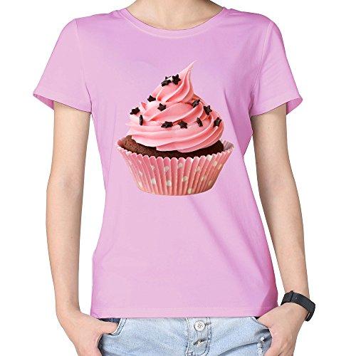 100% Cotton Womens Max's Homemade Cupcakes 2 Broke Girls T Shirt ()