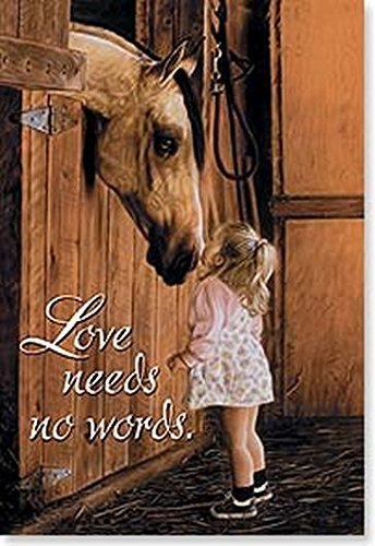 Leanin' Tree Love Needs No Words - Set of 2 Magnets
