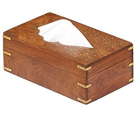SouvNear Rectangular 10x6 Inch Tissue Box Cover - Handmade Rosewood Tissue Paper Holder Decorative Brass Work  sc 1 st  Amazon.com & Amazon.com: SouvNear Rectangular 10x6 Inch Tissue Box Cover ... Aboutintivar.Com