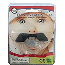 FUNNYBABY Mustache Pacifier - For Baby 0-6 6-12 Months - For Infants, Newborns, Boys and Girls - Funny Novelty Pacifier - Handsome