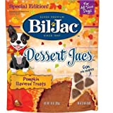 Bil-Jac Super Premium Dessert Jacs Pumpkin Flavored Dog Treats 10 oz Reseable Bag