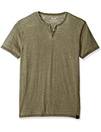 Men's Burnout Button Notch Neck Shirt