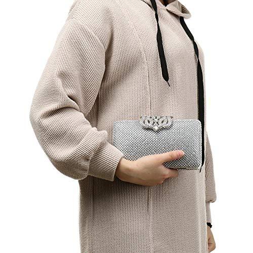 Rhinestones Crystal for Bag Party Case Evening Purses Evening Wedding Hard Clutch Purses Clutch YzqTwYr