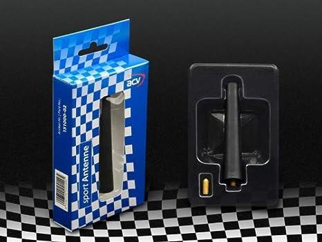 NIQ AM//FM Auto-Kurzstab-Tuning-Sport-Austausch-Dach-Antenne f/ür Skoda M5+M6 Gewinde