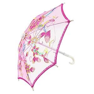 Sourcingmap–a15033000ux0084bordar Patrón de flores Mini Encaje Sombrilla Paraguas, diseño de rosas, color rojo