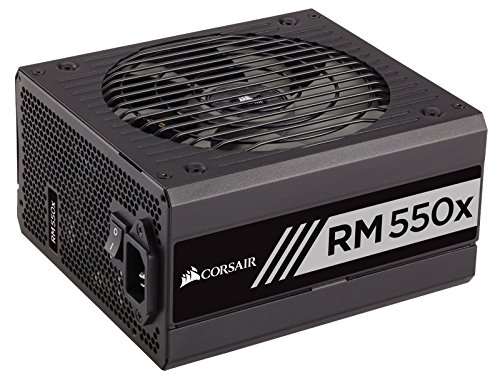 Corsair RMx Series, RM550x, 550W, Fully Modular Power Supply, 80+ Gold Certified