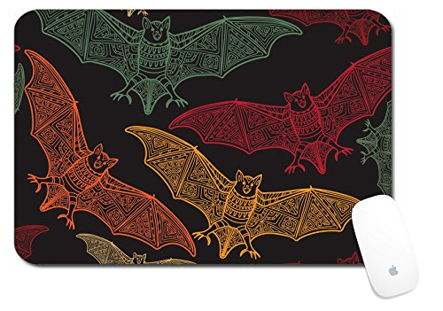 Luxlady Large Mouse Pad XL Extended Non-Slip Rubber Extra Large Desk Mat 18x12 Inch ID: 44881716 Vector seamless halloween pattern with bat Modern stylish texture Repeating ab