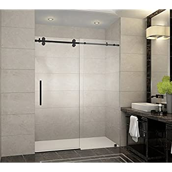 Aston Langham 56  to 60  x 75  Completely Frameless Sliding Shower Door & Aston Langham 56