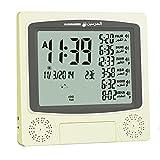 Azan Alarm Clock With Large Display Desktop Wall Mount Gold